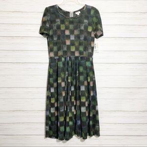 NWT LuLaRoe | Amelia Green Square Dress | L